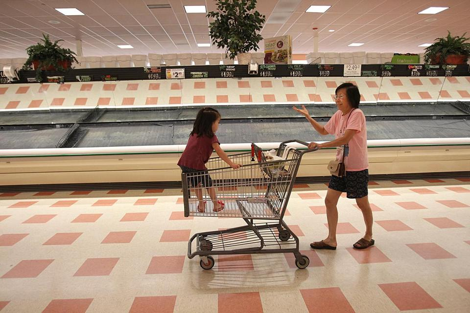 Last summer, the shelves at the Burlington Market Basket weren't fully stocked — they were pretty bare.